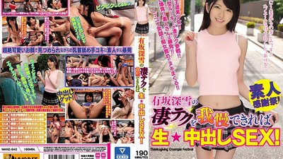 WANZ-842 If You Can Resist Miyuki Arisaka's Amazing Techniques, You'll Get Creampie Sex!